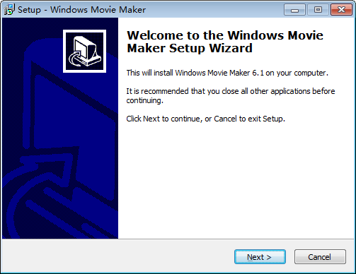 install windows movie maker step 1