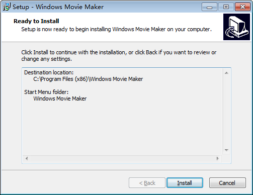 install windows movie maker step 3