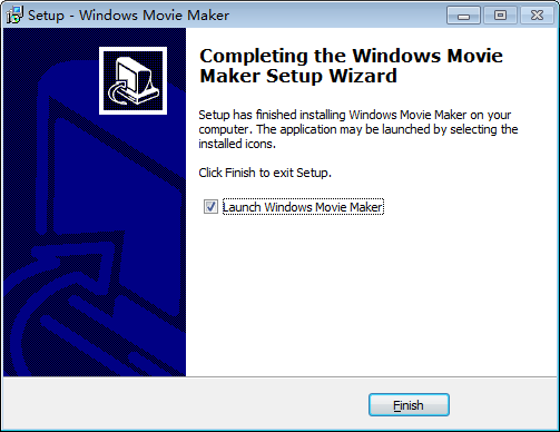 install windows movie maker last step